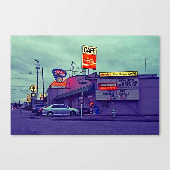 American diner Canvas Print