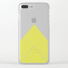 Shades of Yellow Abstract geometric pattern Clear iPhone Case