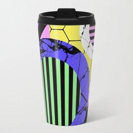 Stripes? Marble? Hex? - Random, eclectic, geometric, abstract design Travel Mug
