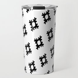Black scratch print pattern Travel Mug