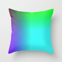Cyan Green Purple Red Blue Black ombre rows and column texture Throw Pillow