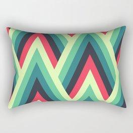 ZIG ZAG yellow, green, blue, black red Shapes Rectangular Pillow