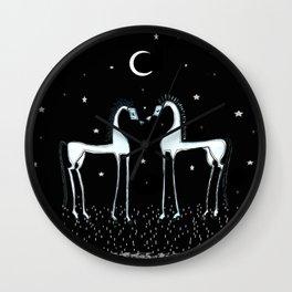 Horses under the moon Wall Clock