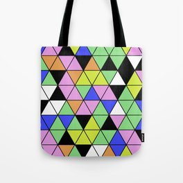Pastel Triangles - Pastel themed, geometric, abstract, triangular pattern Tote Bag