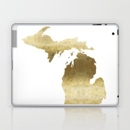 Michigan gold foil state map Laptop & iPad Skin