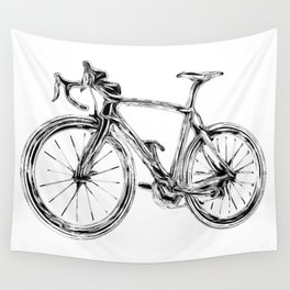 Wooden Bicycle Wall Tapestry