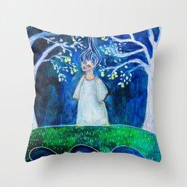 Handless Maiden Throw Pillow