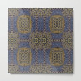 Goldblue Mandalic Pattern 3 Metal Print