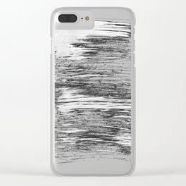 Texture#21 Dry brush Clear iPhone Case
