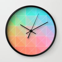 gradient Wall Clocks featuring Gradient by Fimbis