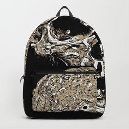 Full Skull With Rotting Flesh Vector Backpack