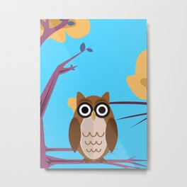 The Wise Owl Metal Print