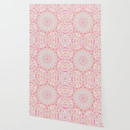 BOHO SUMMER JOURNEY MANDALA - PASTEL ROSE PINK Wallpaper