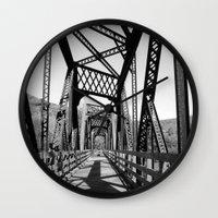 bridge Wall Clocks featuring Bridge by Danielle Podeszek