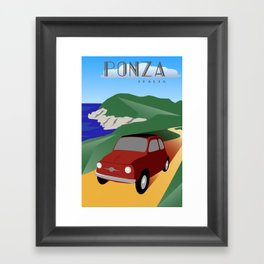 Fiat 500 Ponza Framed Art Print