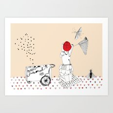 Catch more flies with honey... Art Print