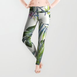 Palm Leaves Pattern 5 Leggings