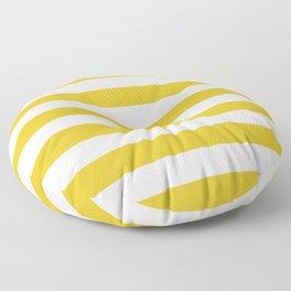 Sunshine Yellow Stripes Floor Pillow