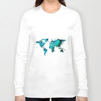 world maps Long Sleeve T-shirts featuring maps by StraySheep