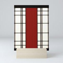 Shoji - red Mini Art Print