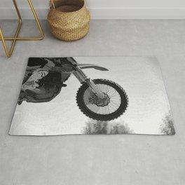 Motocross Dirt-Bike Racer Rug