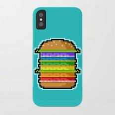 Pixel Hamburger iPhone X Slim Case