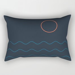 La Mer (Nuit) Seascape Rectangular Pillow