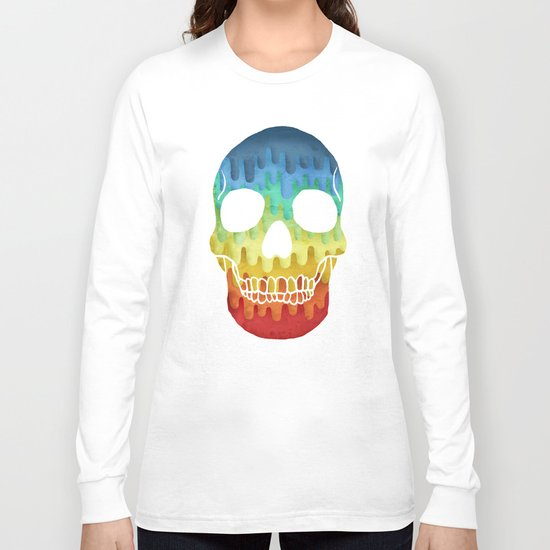 Paper Skull Long Sleeve T-shirt