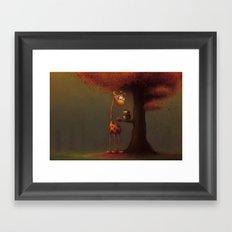 Autumn Giraffe Framed Art Print