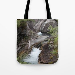 Norwegian waterfall photo, landscape photos, pothole, Instant download, Fine art gifts  Tote Bag
