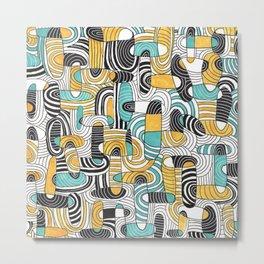 Ovals & lines Metal Print