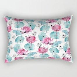 Waterlily buds Rectangular Pillow