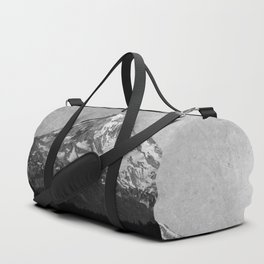 Mt Hood Black and White Vintage Nature Photography Duffle Bag