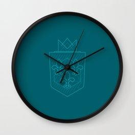 Line Art Fleur de Lis Wall Clock