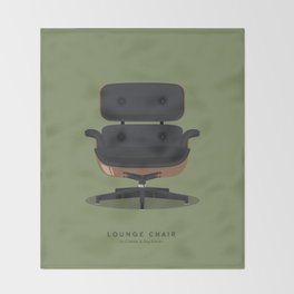Lounge Chair - Charles & Ray Eames Throw Blanket