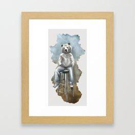 Dear bear Framed Art Print
