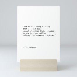 J. D. Salinger Quote Printable  'A Girl I Knew' Mini Art Print