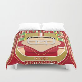 American Football Red and Gold - Enzone Puntfumbler - Victor version Duvet Cover