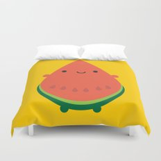 Kawaii Watermelon Duvet Cover