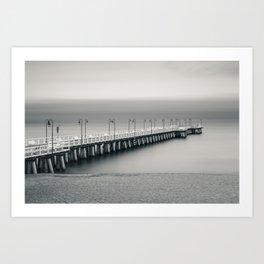 silent pier Art Print
