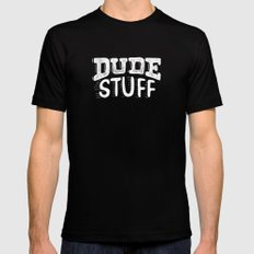 Dude Stuff Black Mens Fitted Tee 2X-LARGE