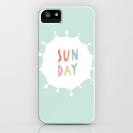 Sunday in Mint iPhone Case