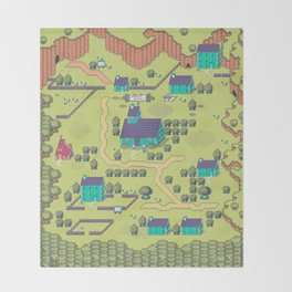 Just A Happy (Happy) Village Throw Blanket