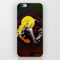 fullmetal alchemist iPhone & iPod Skins featuring YELLOW HAIR ALCHEMIST by BradixArt