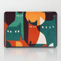 family iPad Cases featuring Cat Family by Picomodi