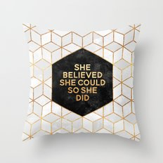 She believed she could so she did 2 Throw Pillow