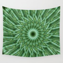 Green Stripes Kaleidoscope 10 Wall Tapestry