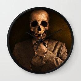 Skull And Crossbones Wall Clock