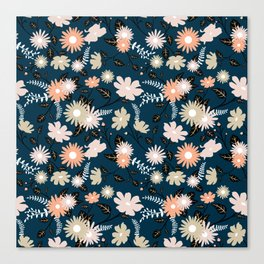 Marseille - Floral Pattern Canvas Print