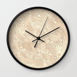 Butterscotch Silk Moire Pattern Wall Clock